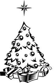 xmas tree line sketch