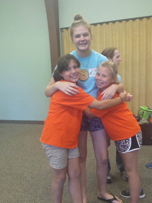Day Camp hugs